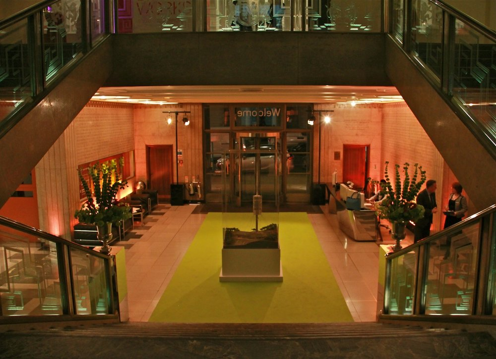 RIBA Building, Atrium / Before install ( RIBA New Gallery Launch )