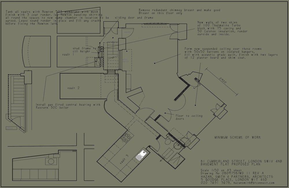 Cumberland Street: Floorplan detailing proposed works