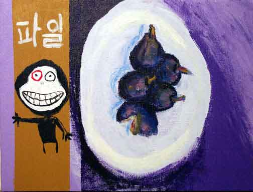 Still Life with Figs, Hangul, and Red-eyed Demon