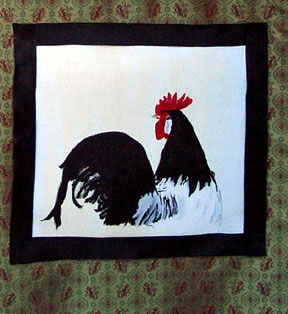 Rooster Scroll