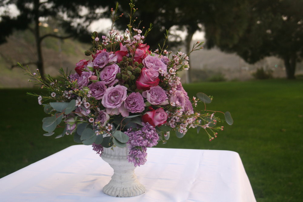 Roses, Lilac, Blackberries and Eucalyptus