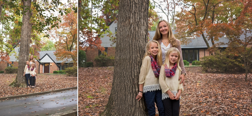 Mom stands with her children in Sanford NC for family photography session.