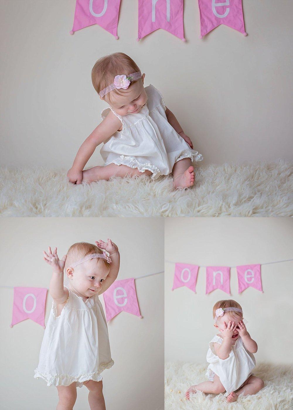 Baby girl showcases her personality to Pinehurst NC photographer.