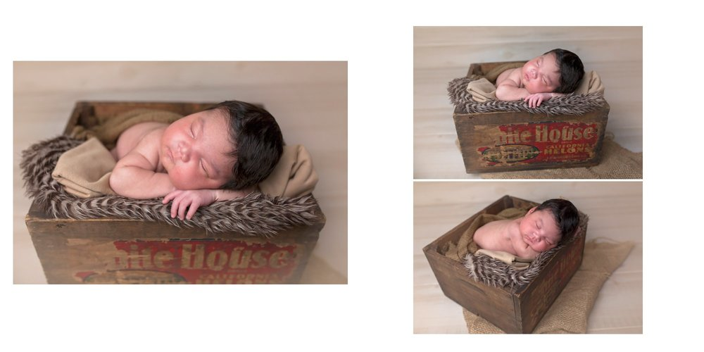 Baby in box | Sanford NC Newborn Photographer