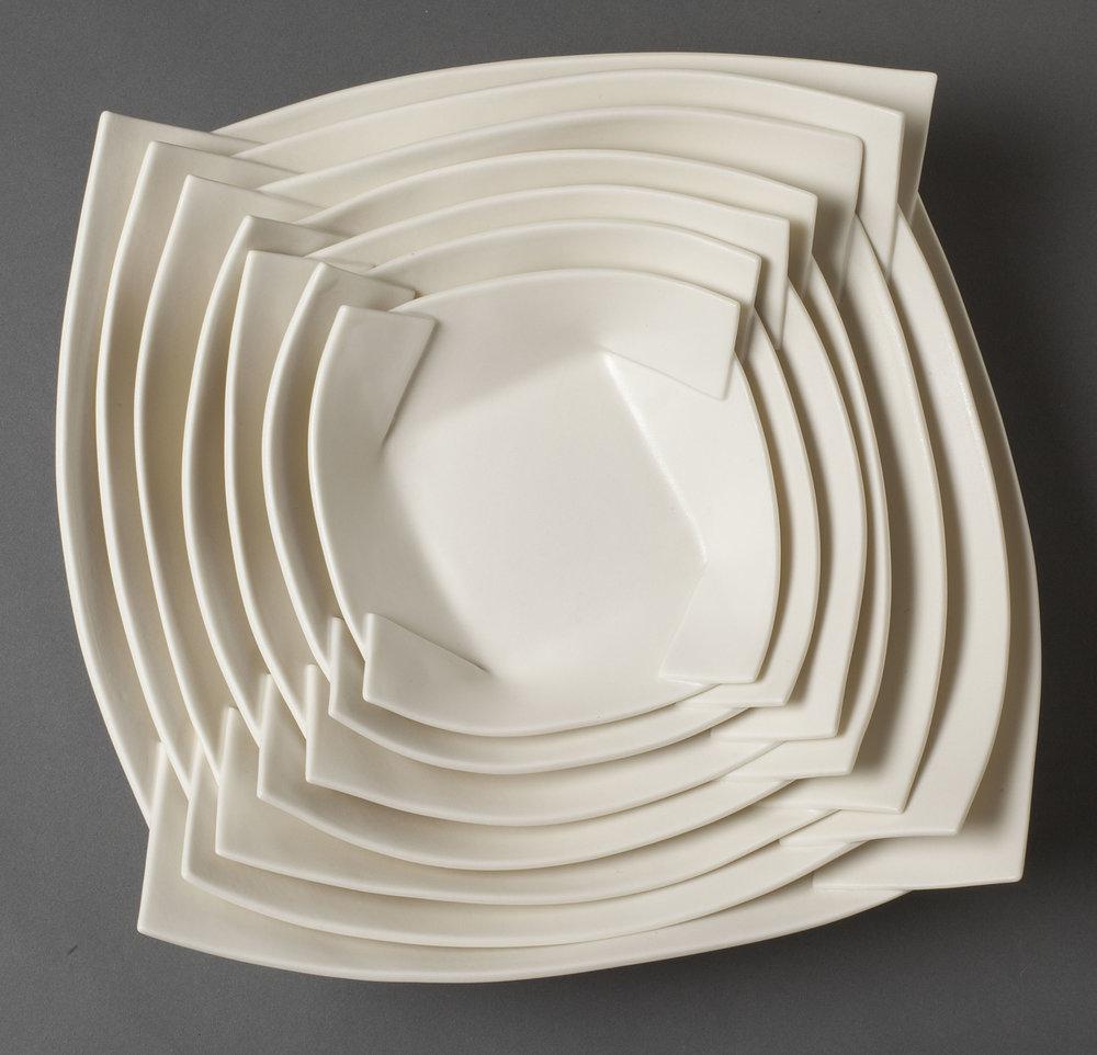 Pinwheel Tray Set