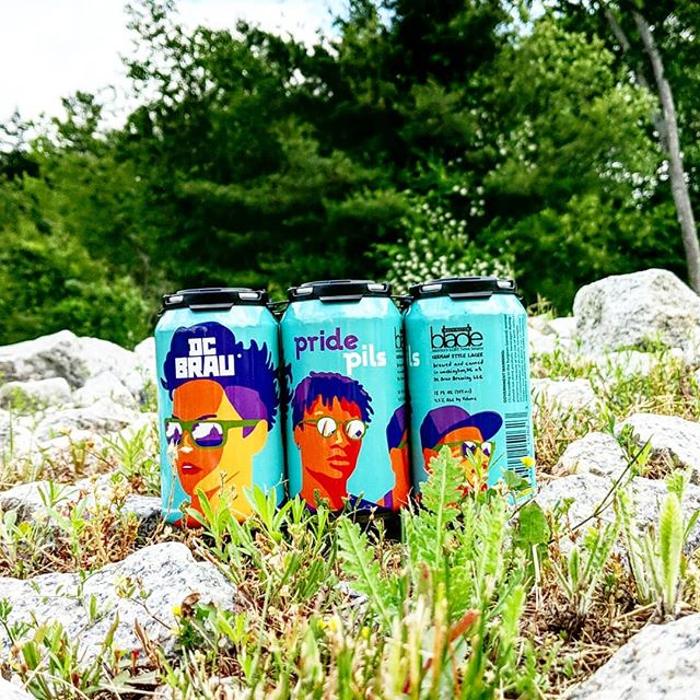 Celebrate #pride🌈 with this #pilsner from @dcbrau available at stores starting tomorrow and also at the @sowaboston Bacon and Beer Festival this Saturday!