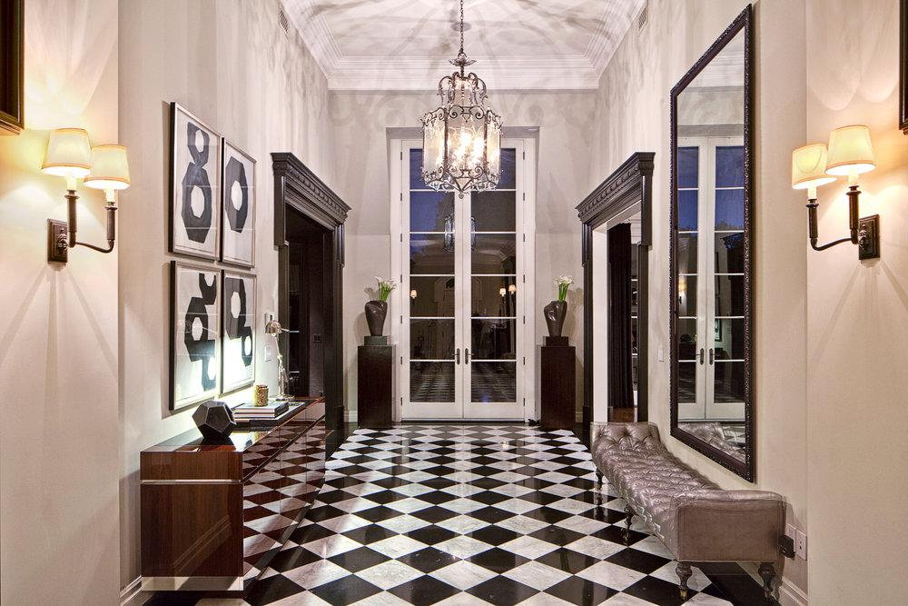 Entry way of the Bellagio Estate