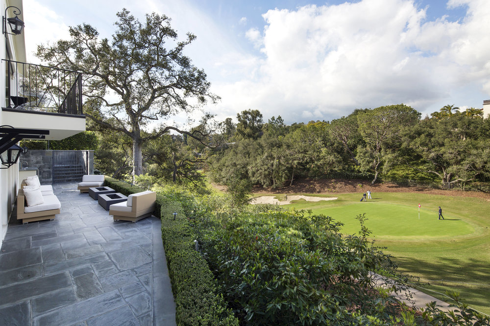 Perched above the 16th hole of Bel Air Country Club