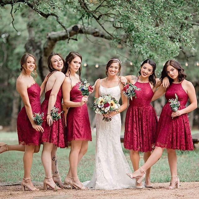 A fabulous bridal party makes your wedding day all the more wonderful! Loved these girls style & sass! ❤️♥️❤️ . . . . . . . . . #fallwedding  #wedding #fall2018 #bridalparty #bridesmaids #hamiltontwelve #weddingvenue #texasvenue #austin #redwedding #shesaidyes #atx #texas #texashillcountry #lakeway #drippingsprings #beecaves  #austintx #austintexas #weddingday  #atxlife  #atxbride #austinbride #atxwedding #acl #acl2018 #austincitylimits #austinwedding  #justengaged #weregettingmarried