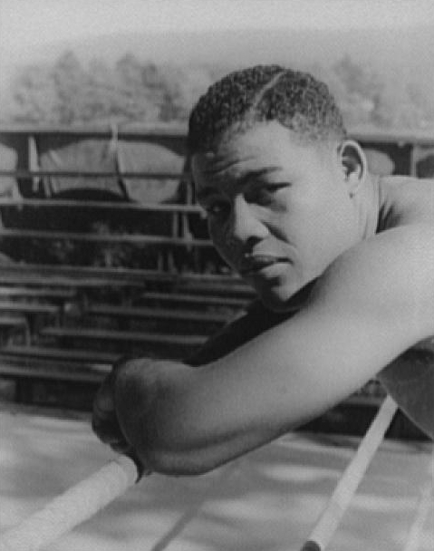 Portrait of Joe Louis, Greenwood Lake, N.Y., before the Nova fight     Photo credit:  Library of Congress, Prints & Photographs Division, Carl Van Vechten Collection