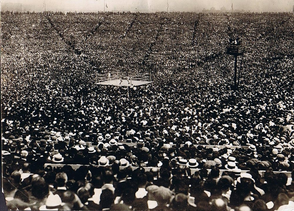This is what about 90,000 looked like in 1921  (Dempsey v. Carpentier - Boyle's 30 Acres)