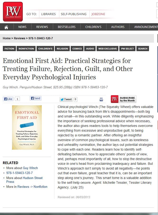 Emotional First Aid PW Review