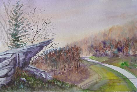 Raven Rock on the Blue Ridge Parkway *
