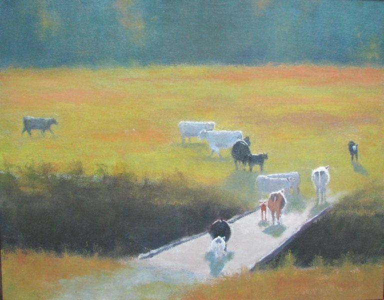 Bovine Traffic Jam *