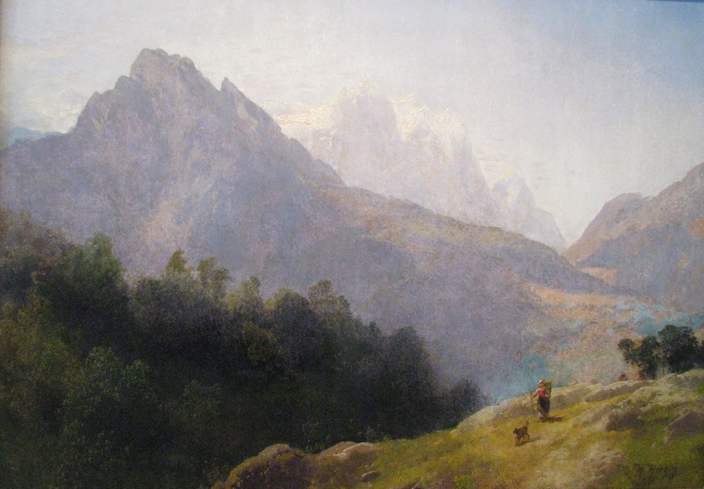 Mountain Landscape with Figure and Dog