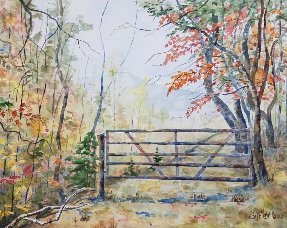 Gate on Timbered Ridge