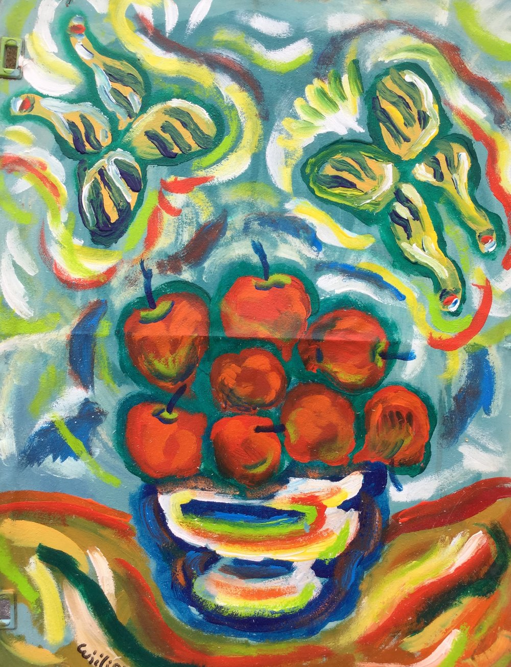 Eight Rainbow Apples