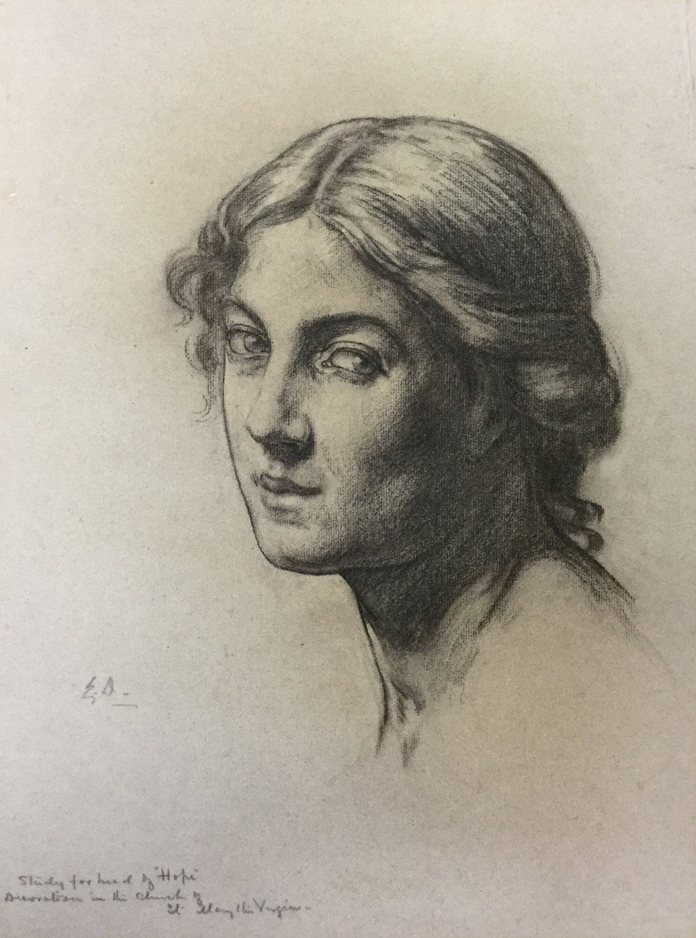 "Study for the head of ""Hope"""