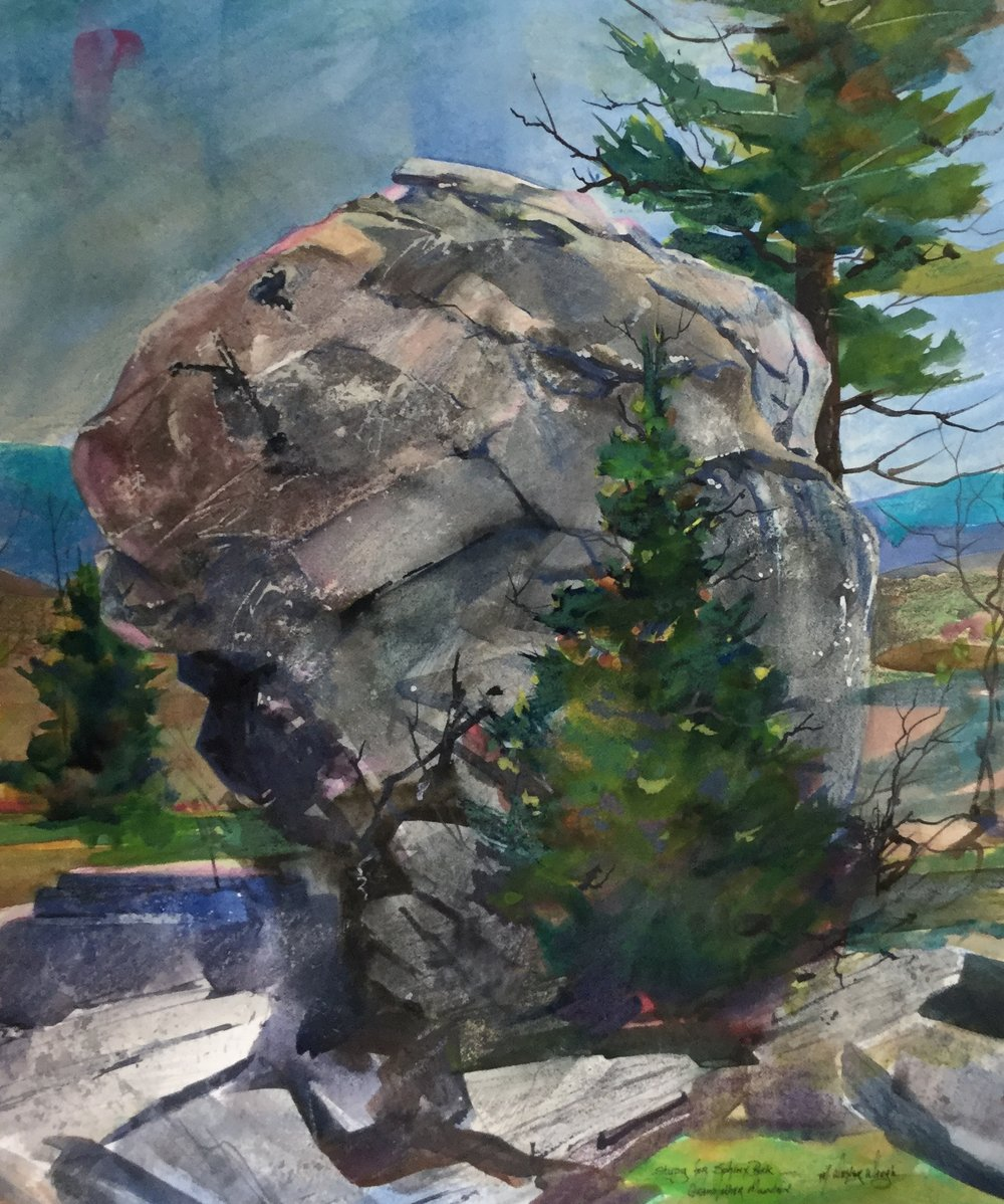 Study of Sphinx Rock, Grandfather Mountain