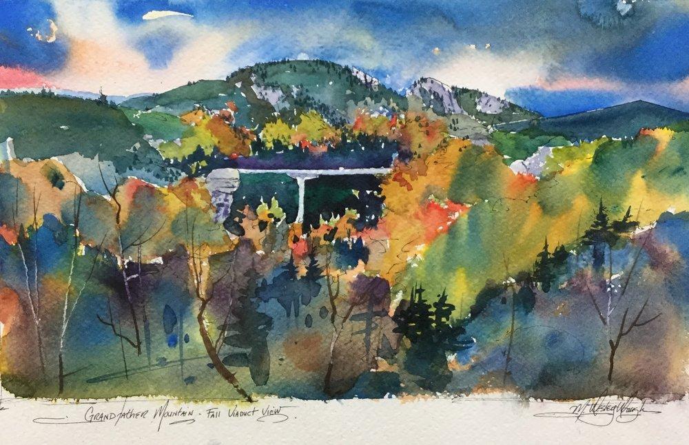 Grandfather Mountain Fall Viaduct View