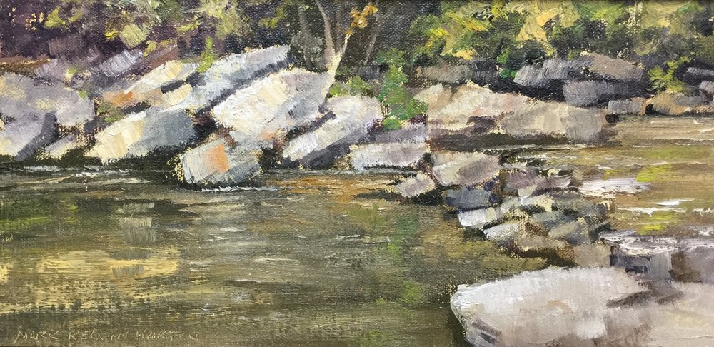 """Watauga River Rocks""    Mark K. Horton    6"" x 12""    $1200"