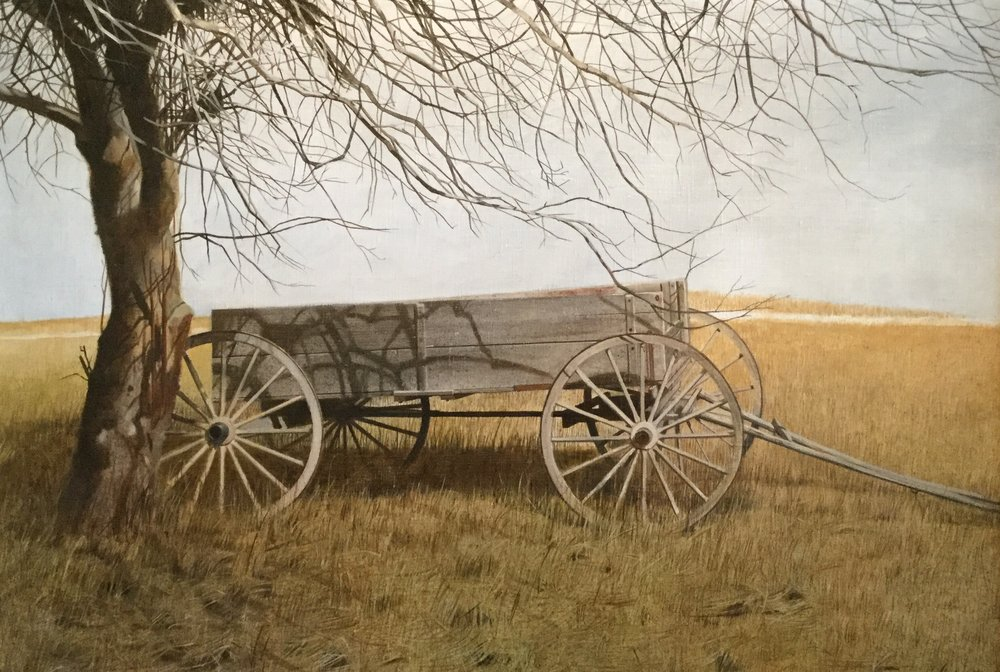 Farm Wagon in a Field