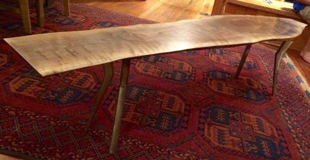 Surfboard Table,  Walnut