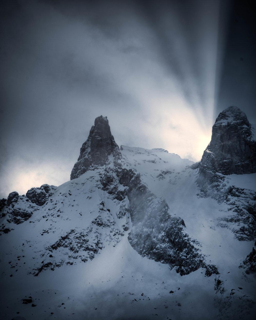 Das Wahrzeichen des Montafons kleiner Drusenturm