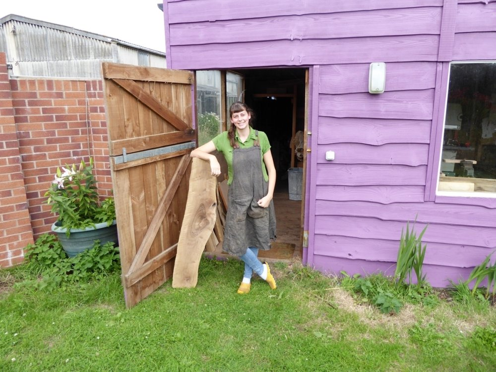 Rosie Brewer outside her studio