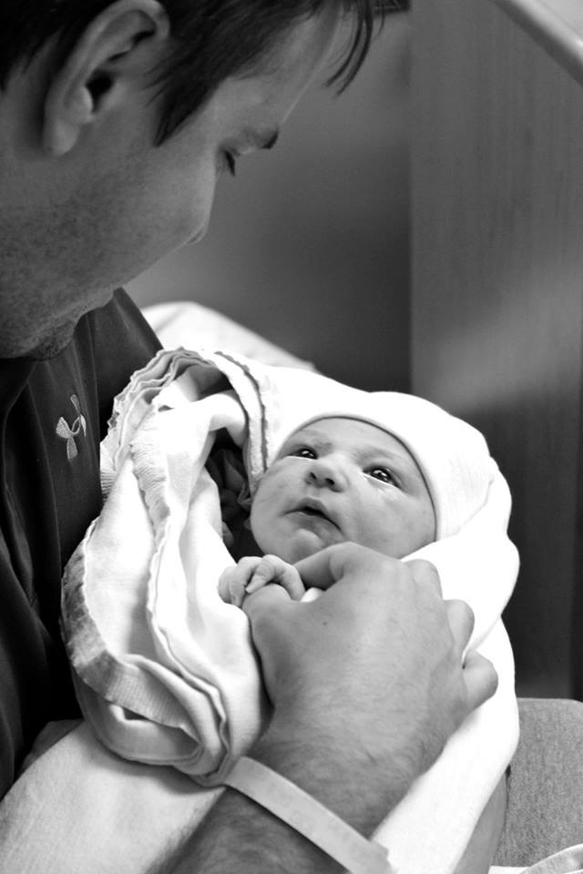 My brother Mack and his daughter Macy, moments after she was born. (Photo: Sandi Hall McClain)