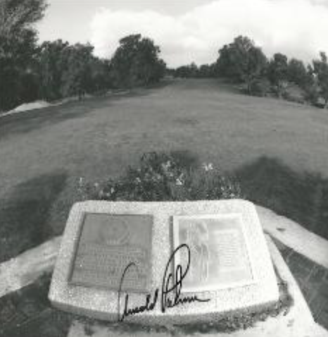 The famous Arnold Palmer Plaque at Rancho Park in LA