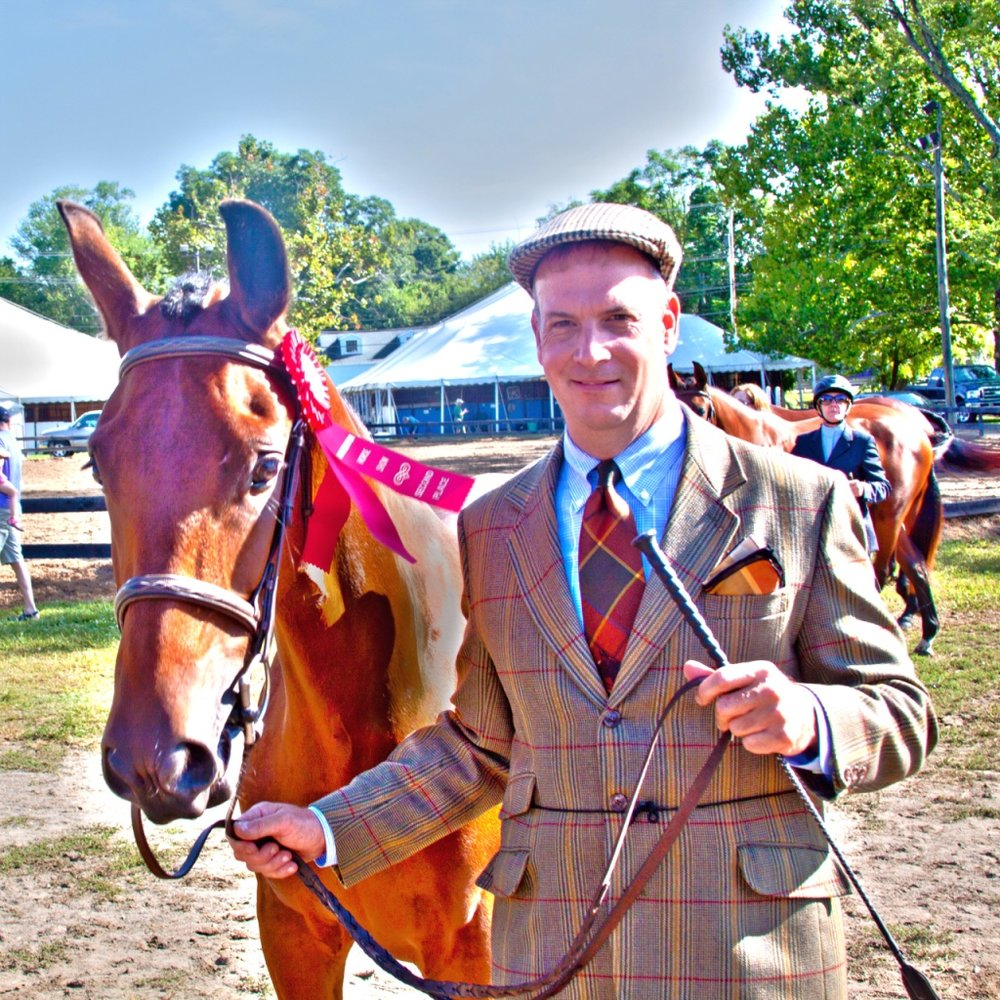 Jason showing Bellavista Chancellor as a yearling at the Warrenton Horse Show.