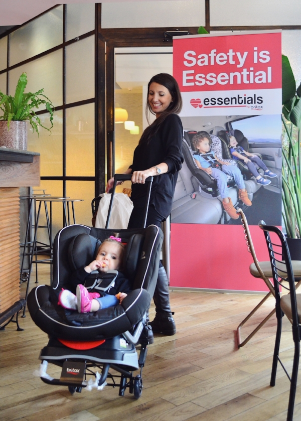 The Britax Car Seat Travel Cart literally turns your car seat into a stroller.