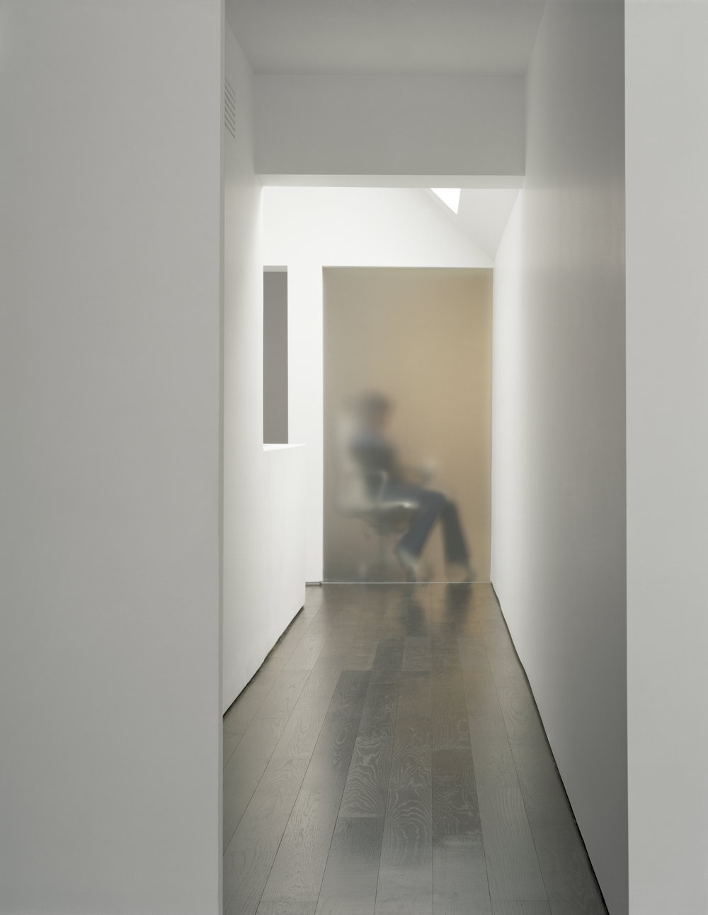 Copy of Russell Hill Road - Hallway Black Floor Frosted Glass