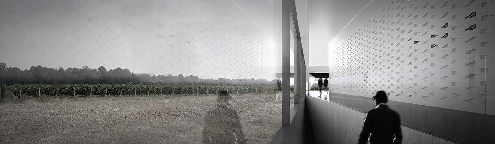 Pearl Morrisette Winery - Interior Vineyard Entrance