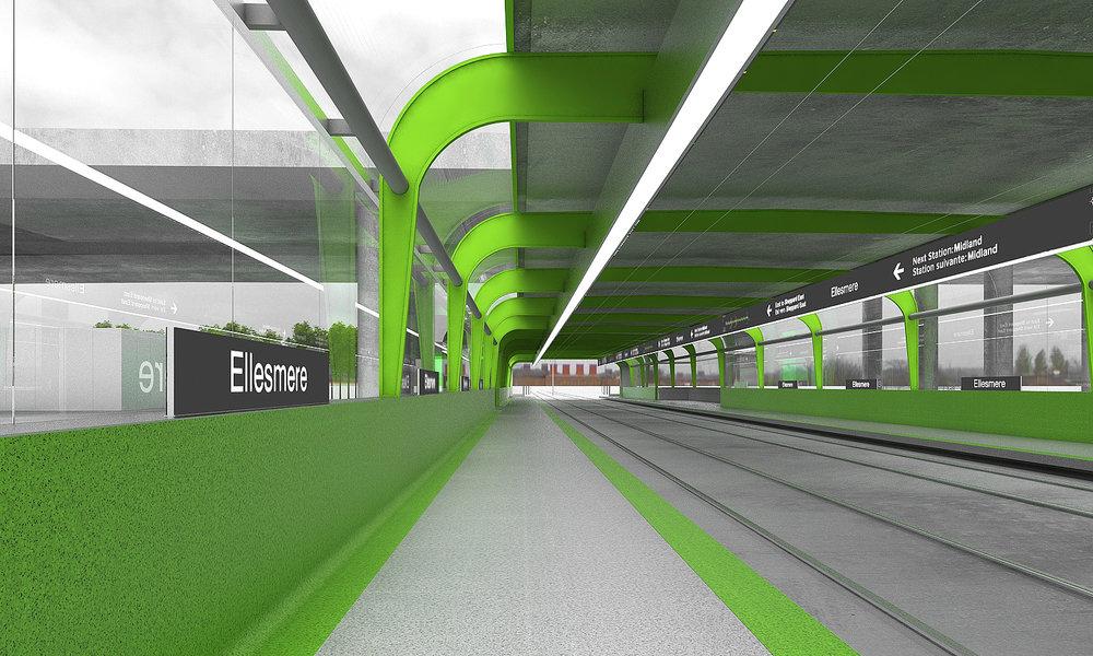 Eglinton Crosstown LRT DX - SRT - Ellesmere Station