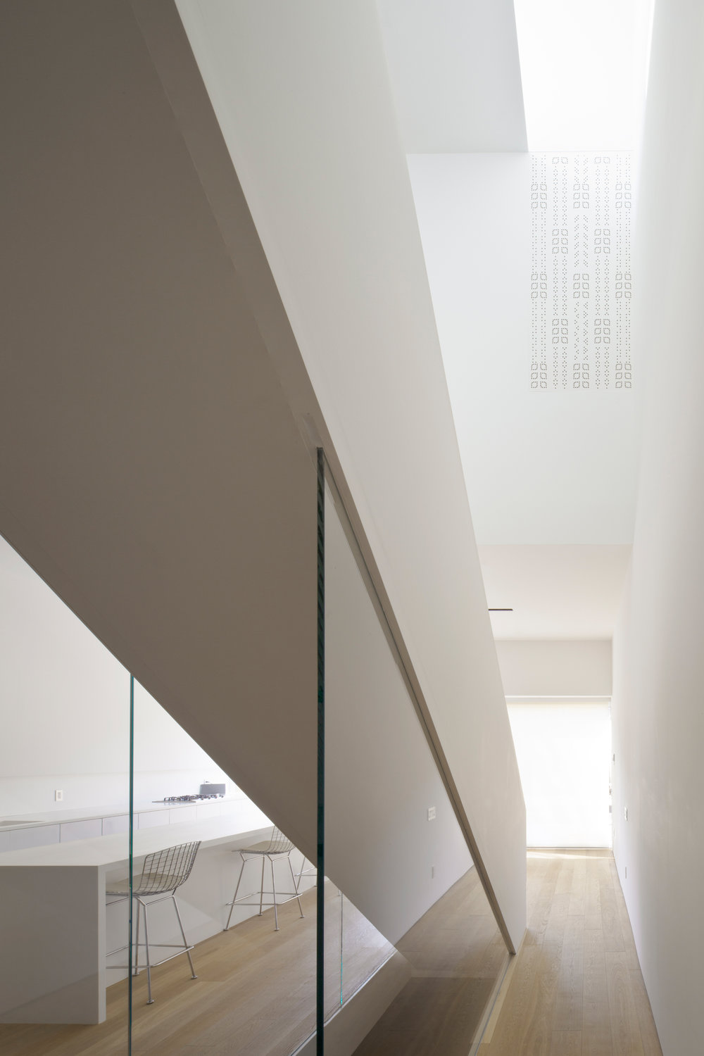 Robert House - Stair interior glass fritt