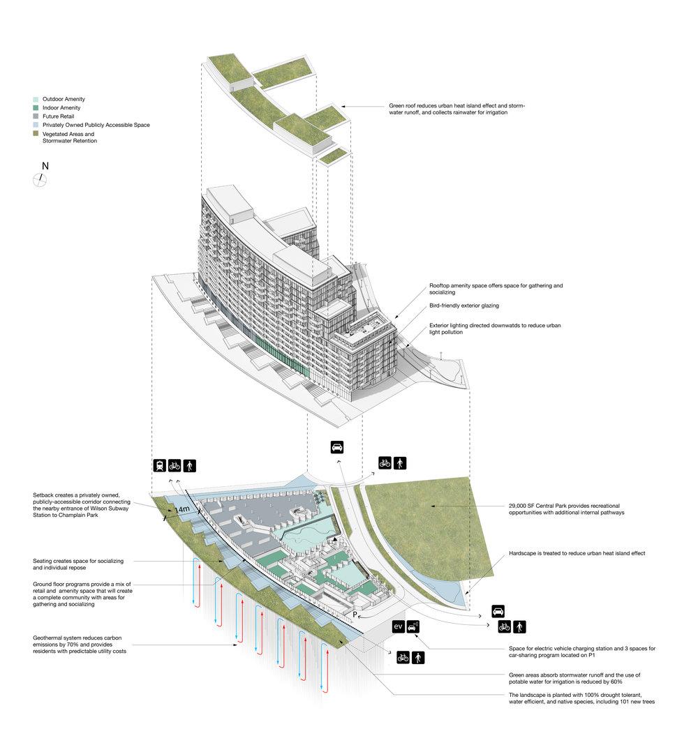 gh3 - Tretti Condominiums - Exploded Axonometric