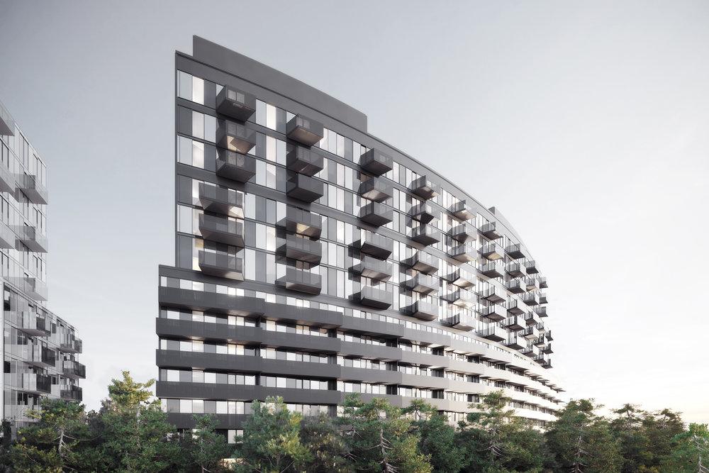 gh3 - Tretti Condominiums - West Elevation