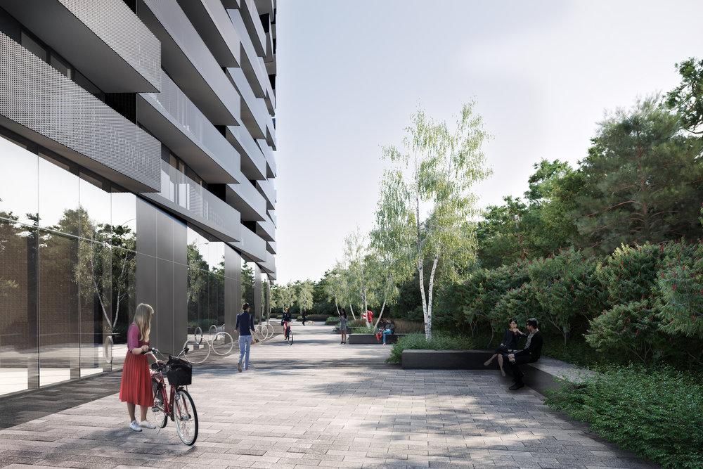gh3 - Tretti Condominiums - West Path View