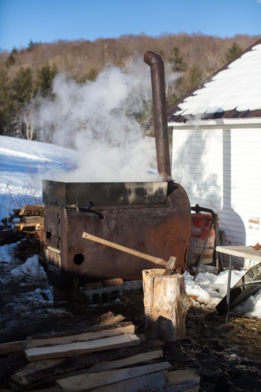 Stitchdown Farm vermont maple syrup sugaring