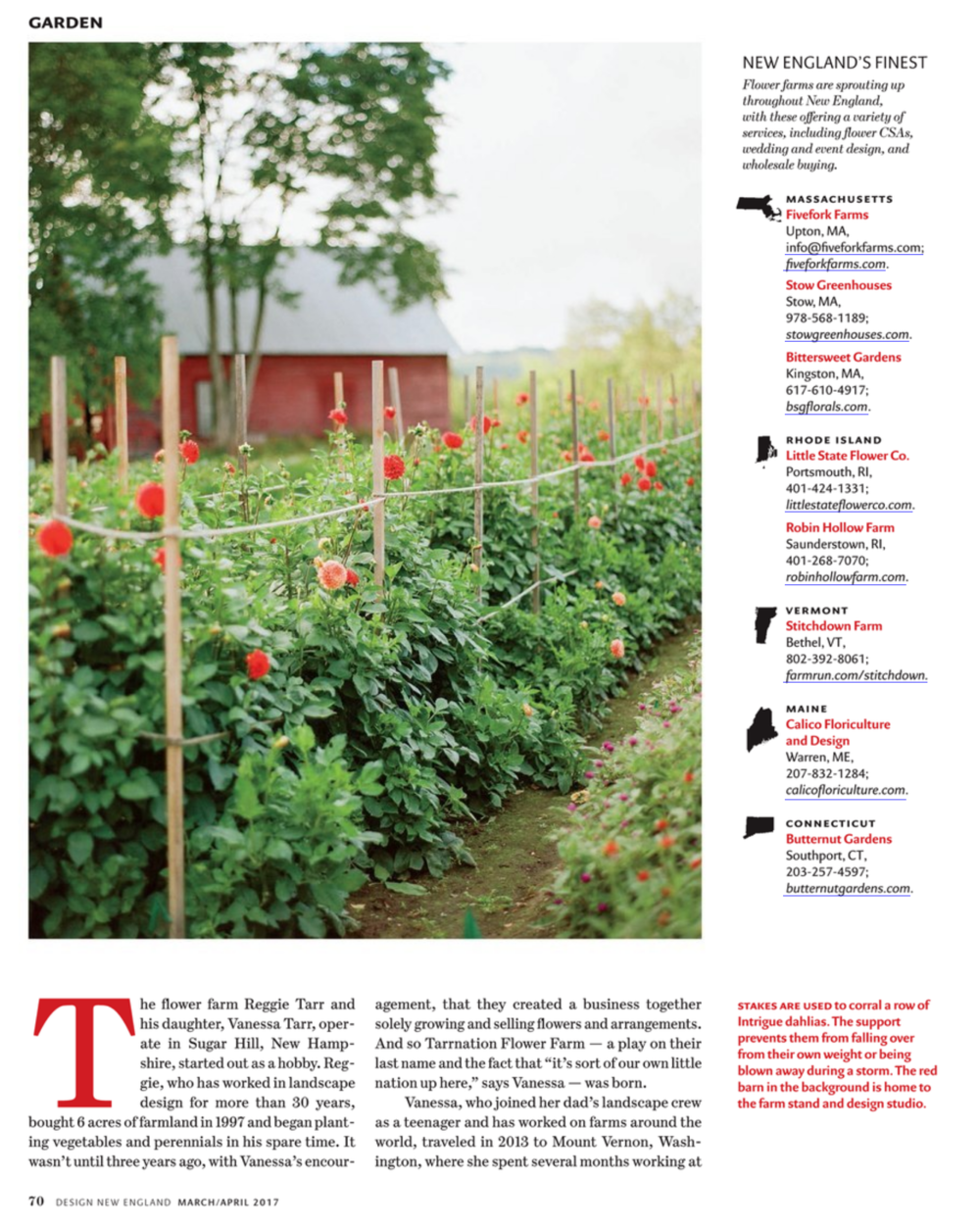 Stitchdown Farm in New England Design Magazine