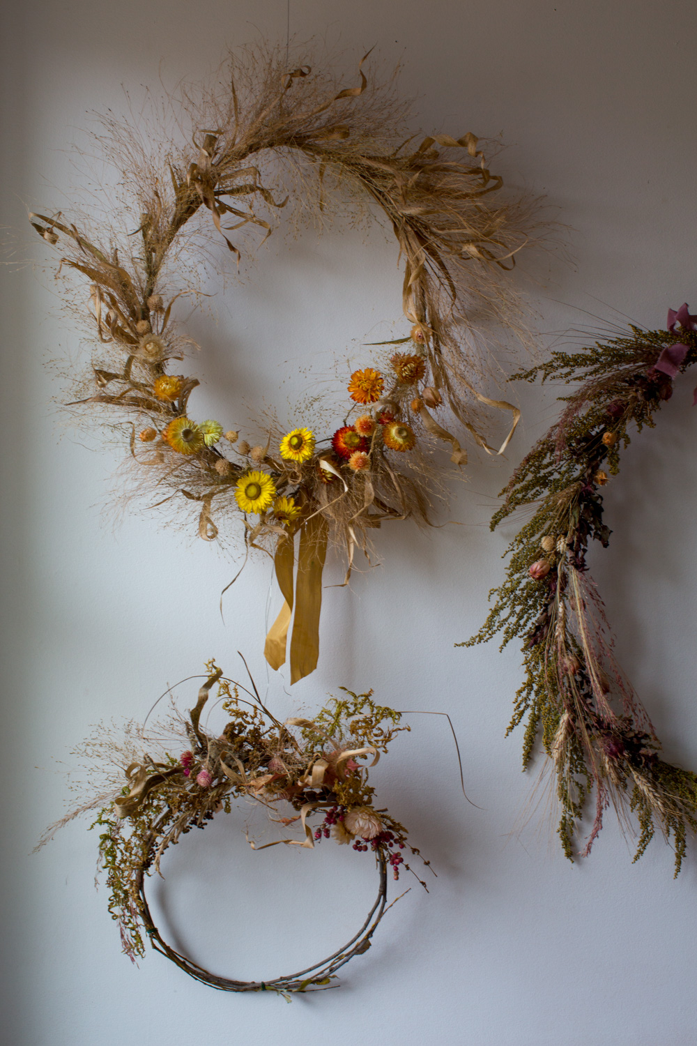 Vermont flowers dried wreath