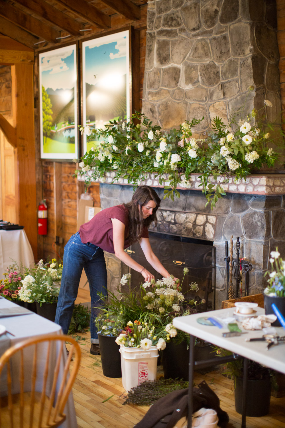 Stitchdown vermont wedding florist local wildflowers