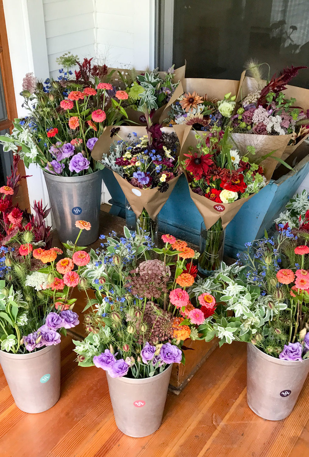 - For those interested in sumptuously extravagant weekly florals. By investing in us and our farm at the beginning of the season you will receive 14 weeks of painfully luscious flowers and experience the seasonal shift from spring beauties to summer heartthrobs. Visit our CSA page for more details.