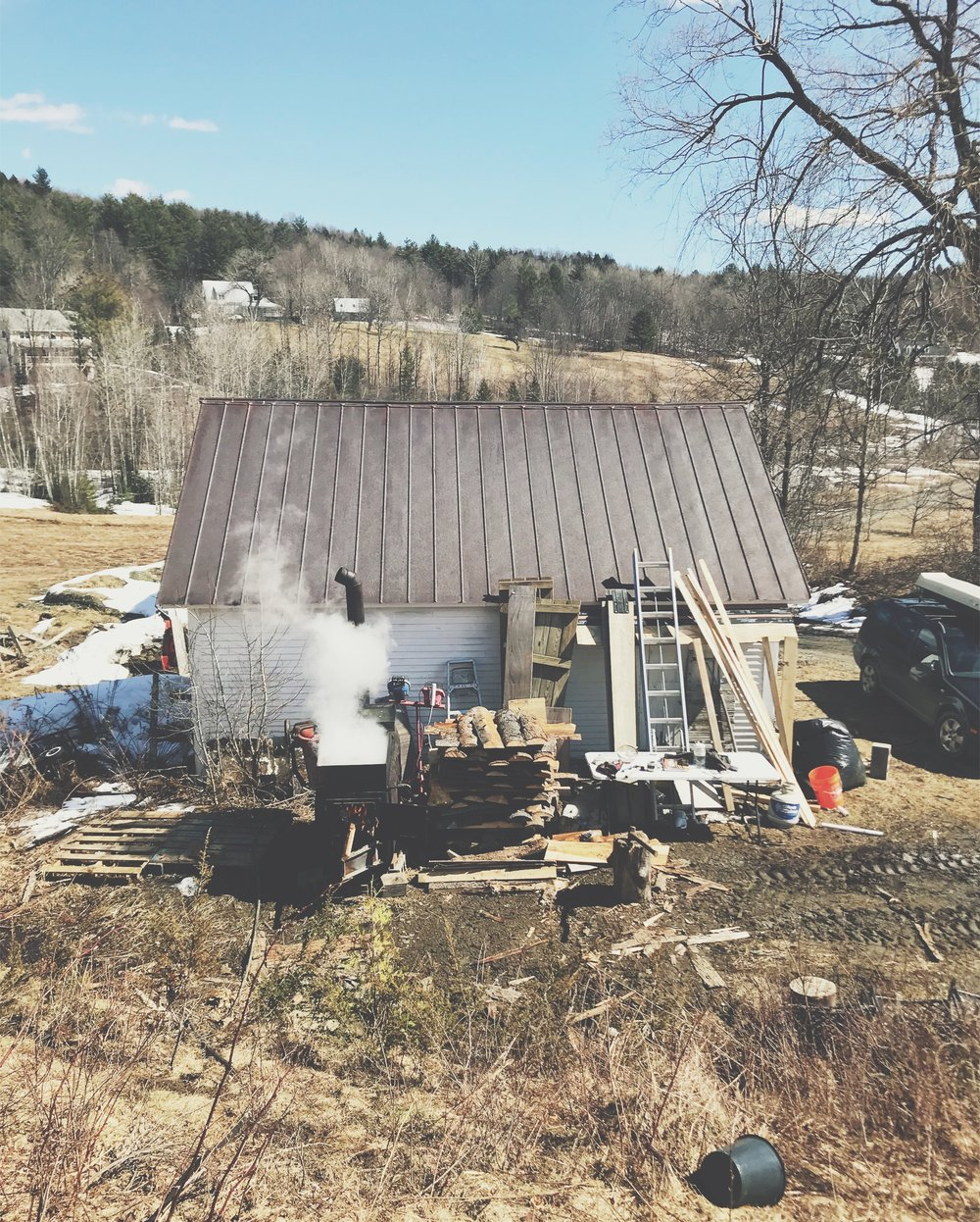 Stitchdown Farm Vermont Maple Syrup Evaporator