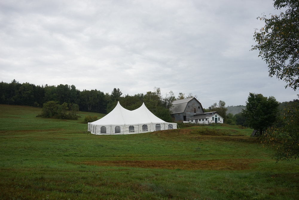 Stitchdown Farm Vermont Wedding Tent