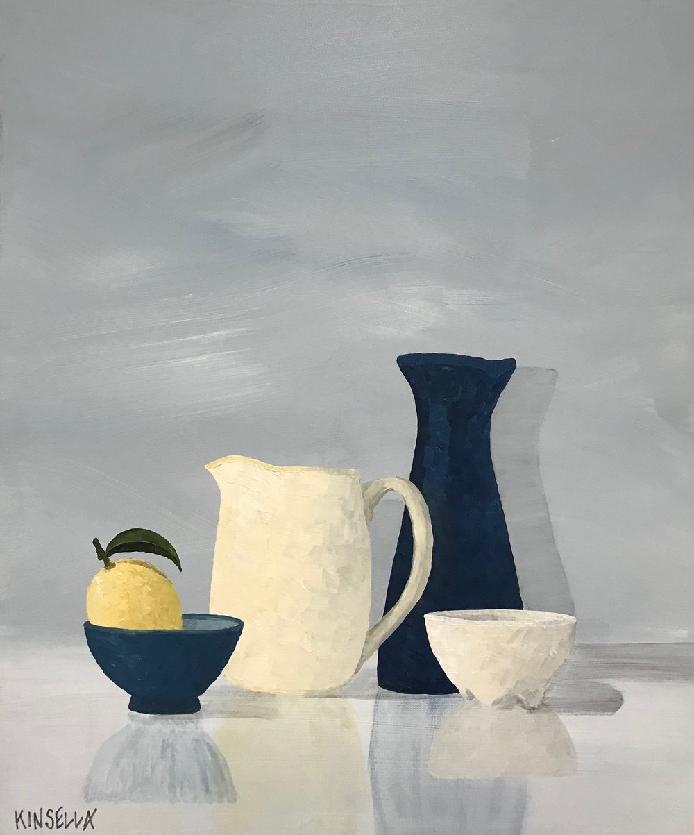 STILL LIFE WITH BLUE CARAFE