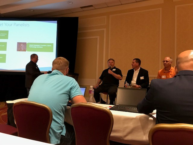 Brent was invited to speak at a national user group for MSPs on marketing strategy in the IT industry that was held in Baltimore, Maryland.