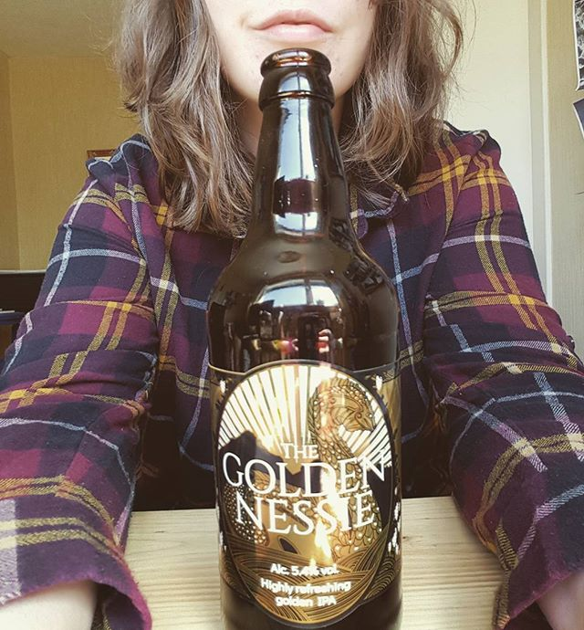 My beer label designs were approved and are off for final printing! I'll upload high quality pics of them both  once they're announced by the brewery. In the mean time, I'll use this  excuse to pose by my first physical product. Excuse the inferior pixels. #milestone #design #beerlabel #beer #gold #golden #plaid #checkedshirt #bottle #illustrator #illustration #freelance #freelancer #homestudio #metallic